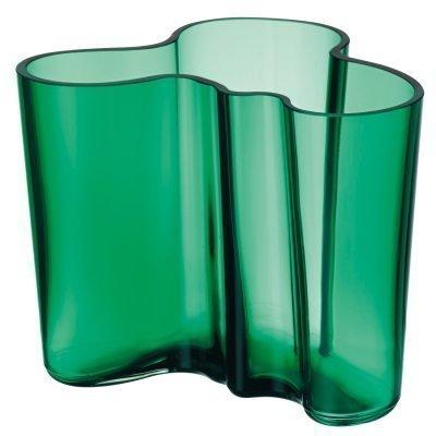 Aalto vaasi 120 mm smaragdi vihreä