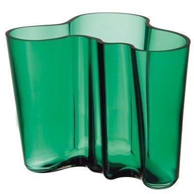 Aalto vaasi 160 mm smaragdi vihreä