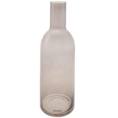 Bottle maljakko/kynttilänjalka L harmaa