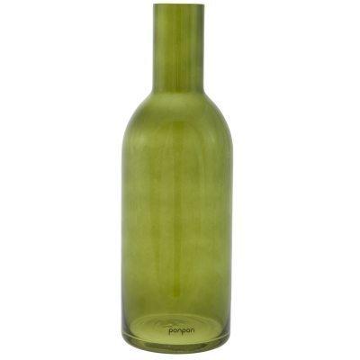 Bottle maljakko/kynttilänjalka L vihreä