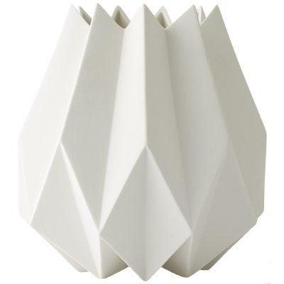 Folded korkea vaasi valkoinen