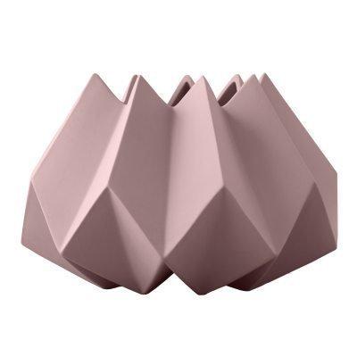 Folded vaasi S roosa