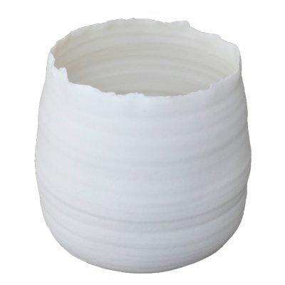 Glow & Bloom vaasi round S valkoinen