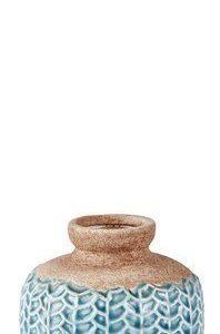 KJ Collection Maljakko kuvioilla Sininen 11 cm