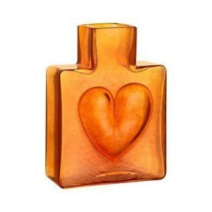 Kosta Boda Because Vaasi Oranssi sydän 11 cm