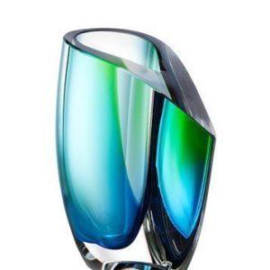 Kosta Boda Mirage Vihreä/Sininen Vaasi 15