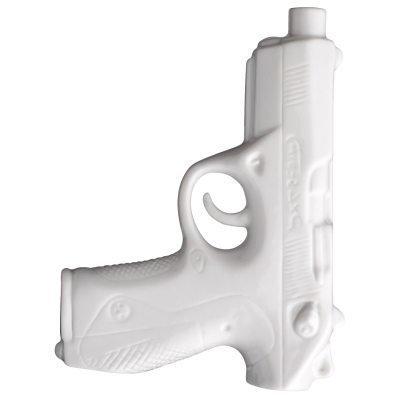 Pistol vaasi valkoinen