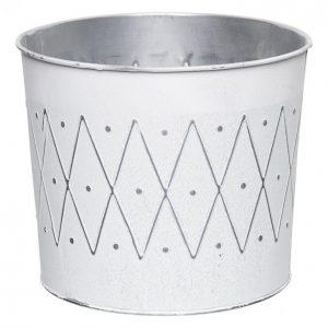 Suojaruukku 22x20x19cm Valkoinen / Hopea